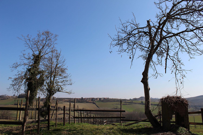 Il panorama da Cascina Graziella