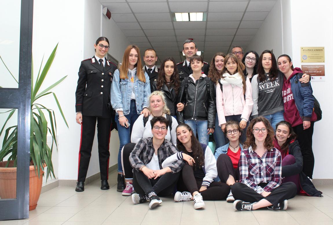Con il comandante Breda e i suoi collaboratori